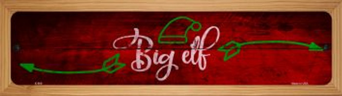 Big Elf Novelty Wood Mounted Metal Small Street Sign WB-K-906