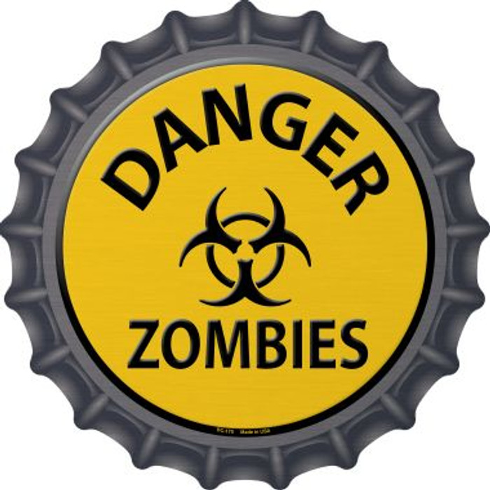 Danger Zombies Novelty Metal Bottle Cap BC-170