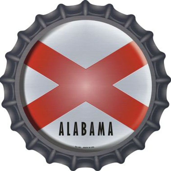 Alabama State Flag Novelty Metal Bottle Cap BC-100