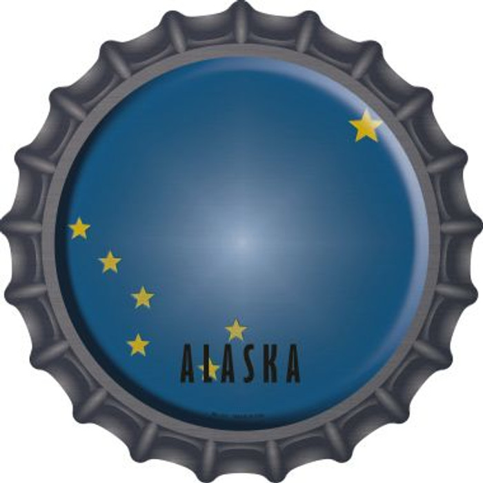 Alaska State Flag Novelty Metal Bottle Cap BC-101