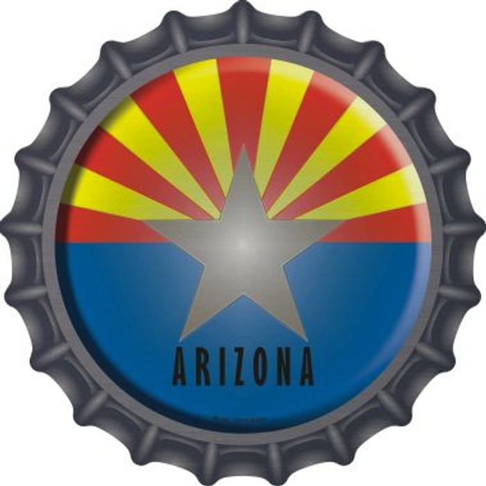 Arizona State Flag Novelty Metal Bottle Cap BC-102