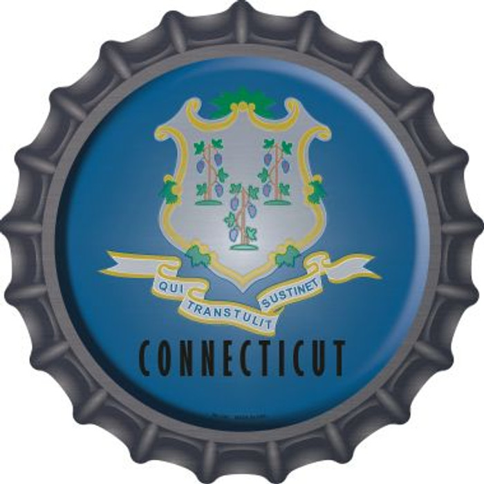 Connecticut State Flag Novelty Metal Bottle Cap BC-106