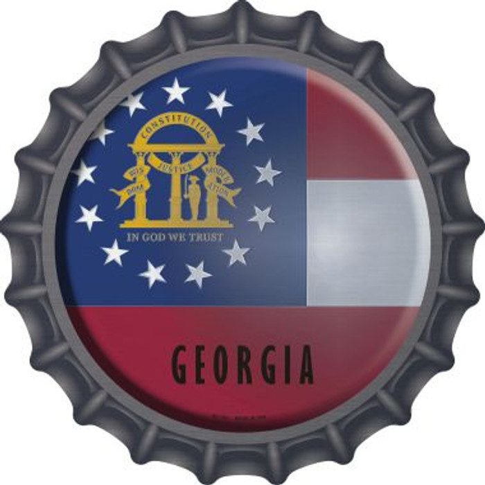 Georgia State Flag Novelty Metal Bottle Cap BC-109