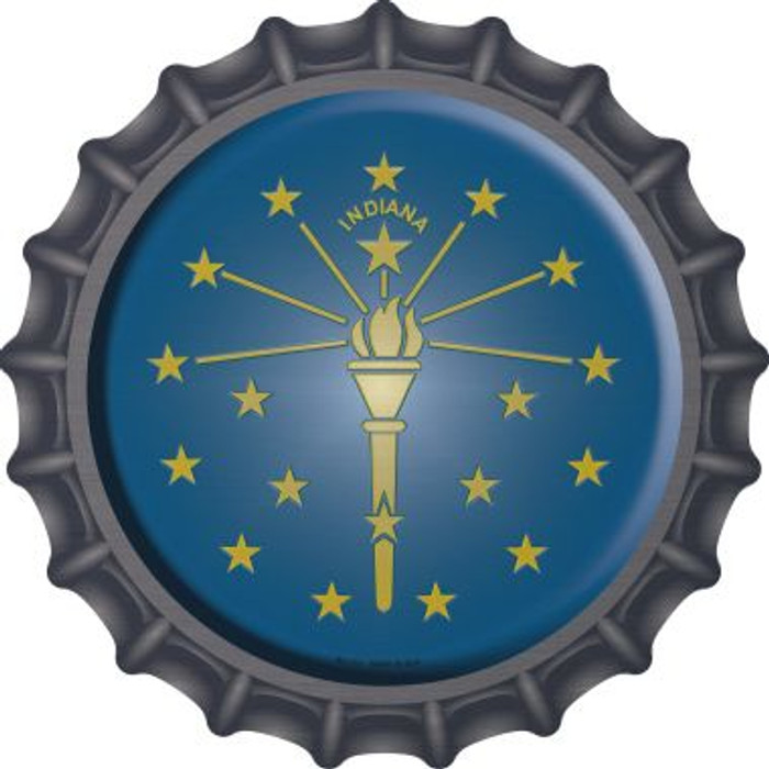 Indiana State Flag Novelty Metal Bottle Cap BC-113