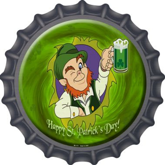 Happy St. Patricks Day Novelty Metal Bottle Cap BC-171