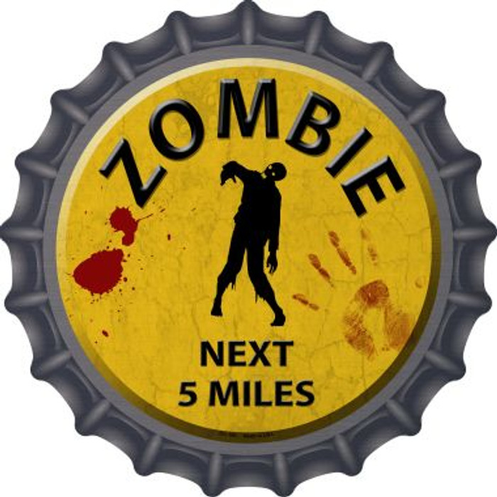 Zombie Next 5 Miles Novelty Metal Bottle Cap BC-169