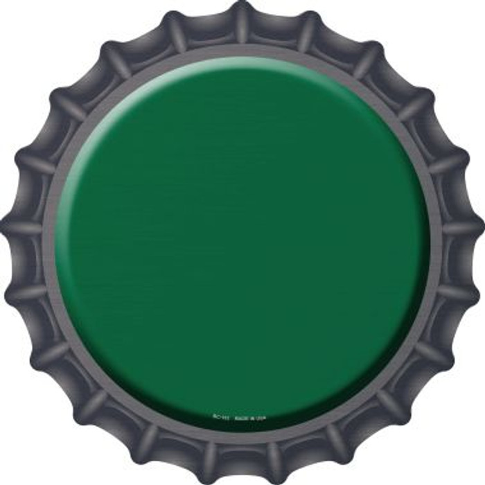 Green Novelty Metal Bottle Cap BC-153