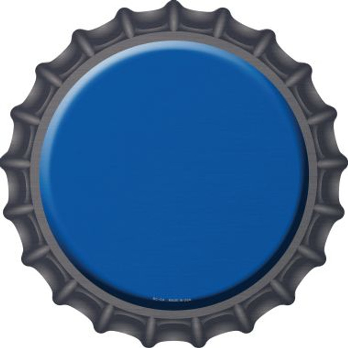 Blue Novelty Metal Bottle Cap BC-154