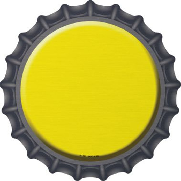 Yellow Novelty Metal Bottle Cap BC-155