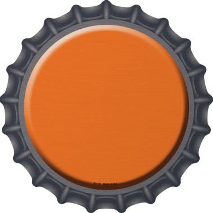 Orange Novelty Metal Bottle Cap BC-156