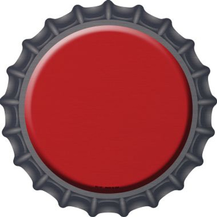 Red Novelty Metal Bottle Cap BC-157