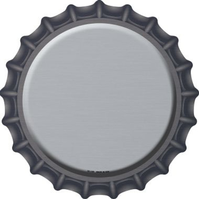 Gray Novelty Metal Bottle Cap BC-158