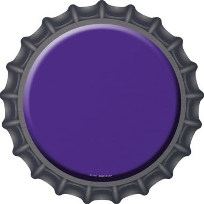 Purple Novelty Metal Bottle Cap BC-159