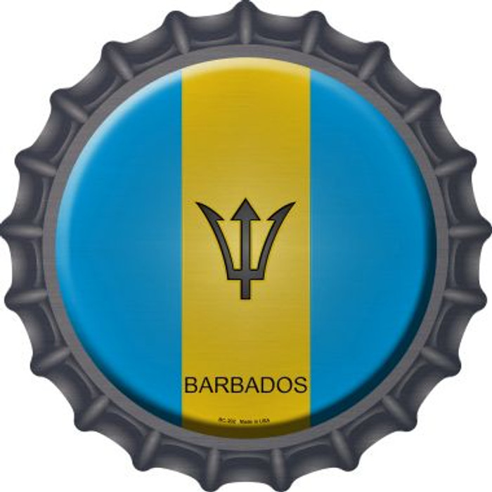 Barbados Country Novelty Metal Bottle Cap BC-202