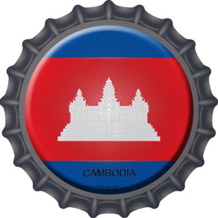Cambodia Country Novelty Metal Bottle Cap BC-221