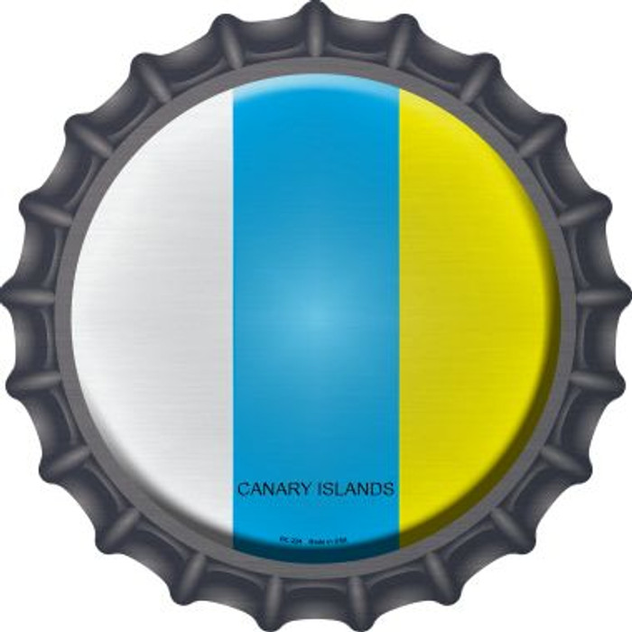 Canari Islands Country Novelty Metal Bottle Cap BC-224