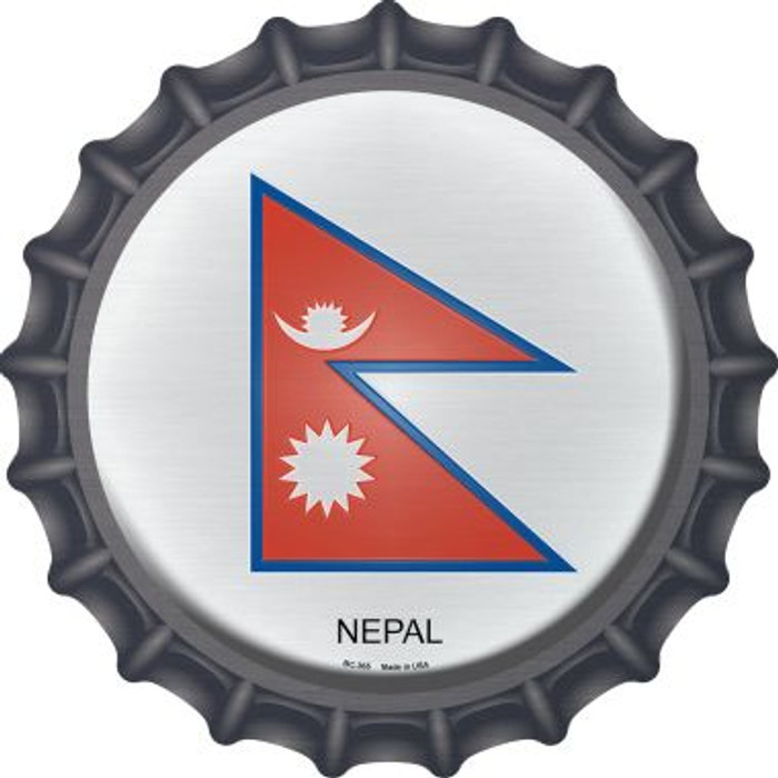 Nepal Country Novelty Metal Bottle Cap BC-365