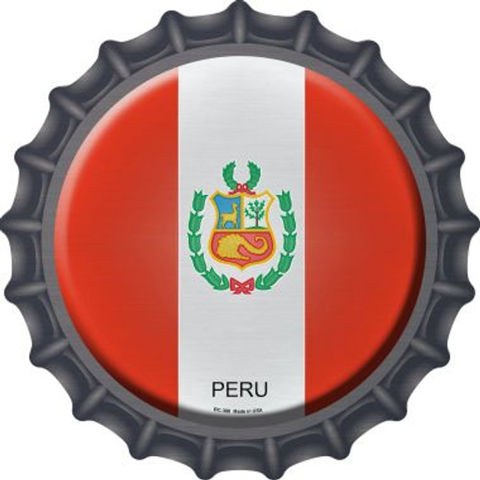 Peru Country Novelty Metal Bottle Cap BC-388