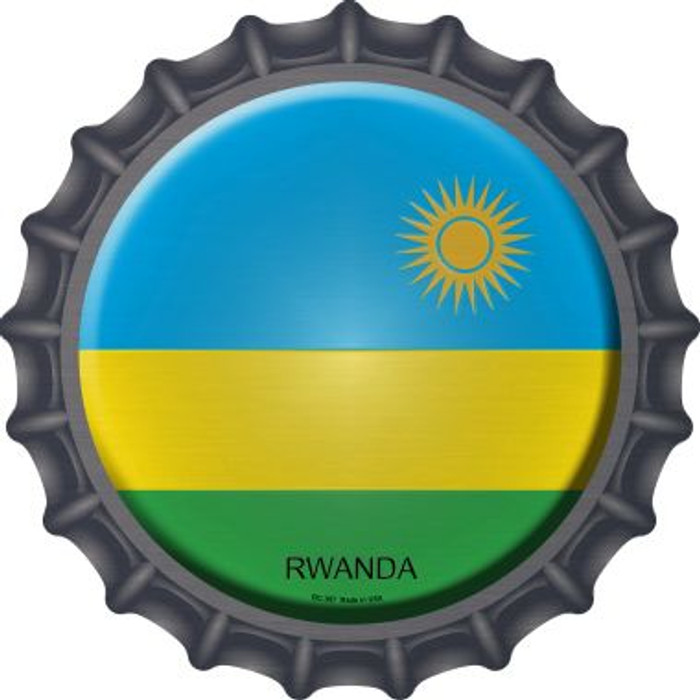 Rwanda Country Novelty Metal Bottle Cap BC-397