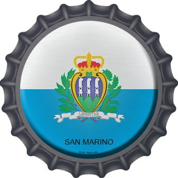 San Marino Country Novelty Metal Bottle Cap BC-401