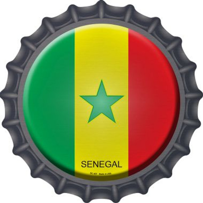 Senegal Country Novelty Metal Bottle Cap BC-407