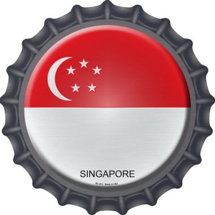 Singapore Country Novelty Metal Bottle Cap BC-413
