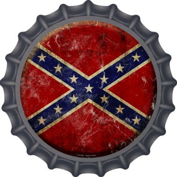 Confederate Flag Novelty Metal Bottle Cap BC-500