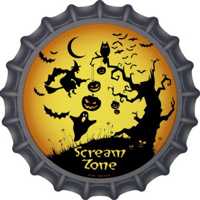 Scream Zone Novelty Metal Bottle Cap BC-502