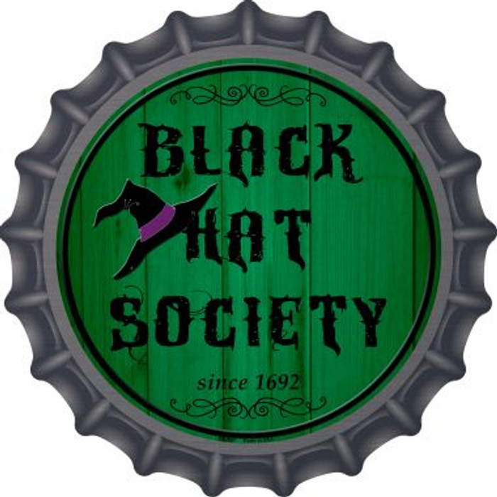 Black Hat Society Novelty Metal Bottle Cap BC-507