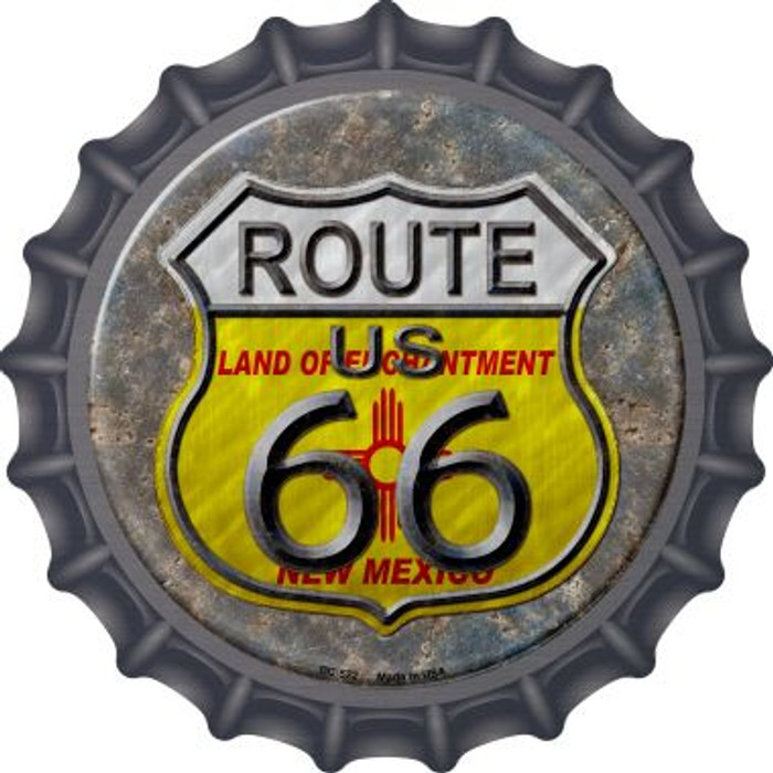 New Mexico Route 66 Novelty Metal Bottle Cap BC-522