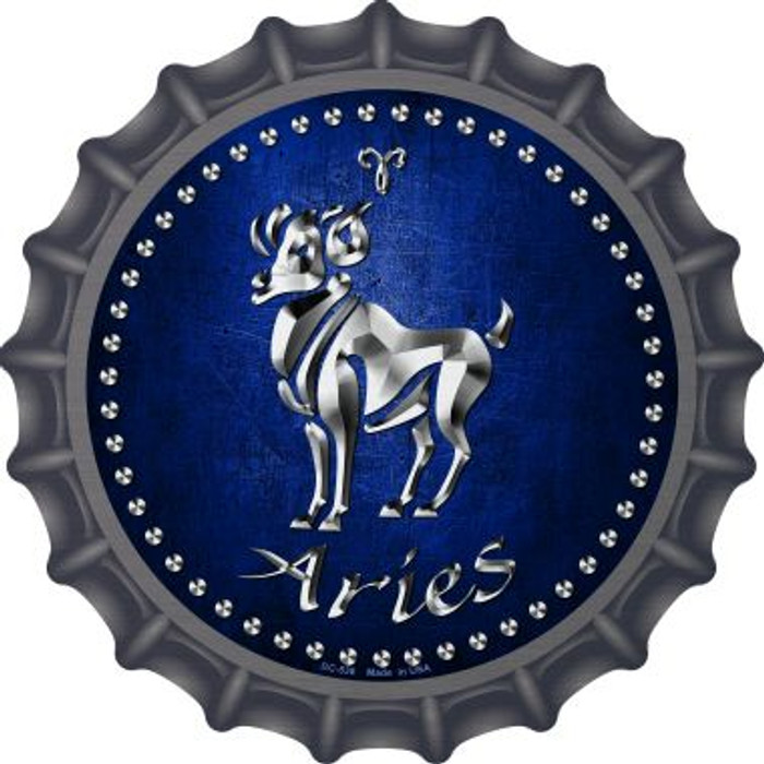 Aries Novelty Metal Bottle Cap BC-536