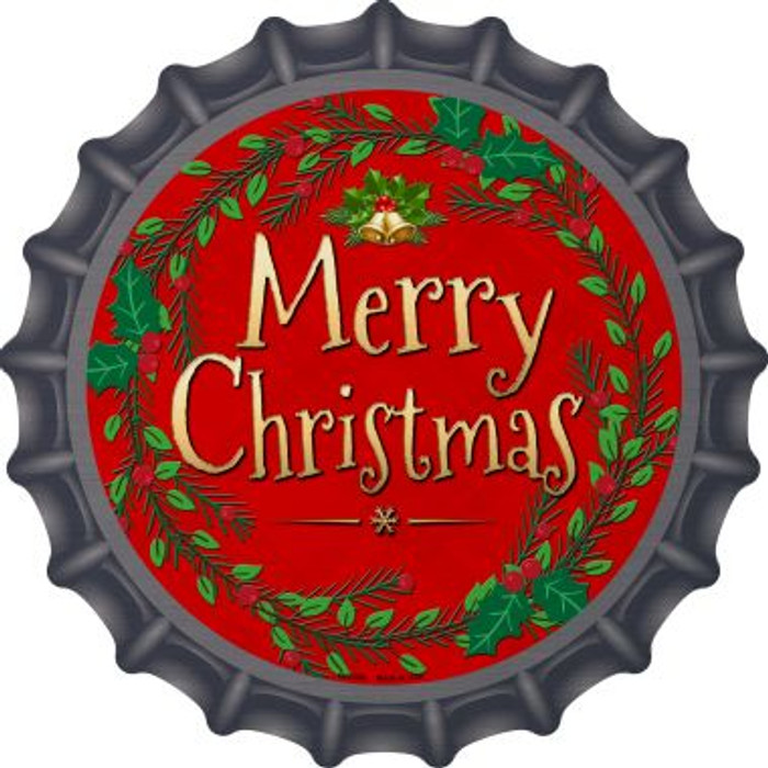 Merry Christmas Novelty Metal Bottle Cap BC-558