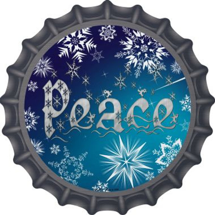 Peace Novelty Metal Bottle Cap BC-560