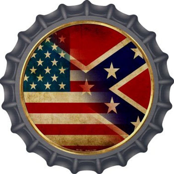 American Confederate Flag Novelty Metal Bottle Cap BC-561