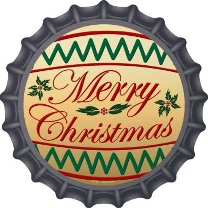 Merry Christmas Novelty Metal Bottle Cap BC-568