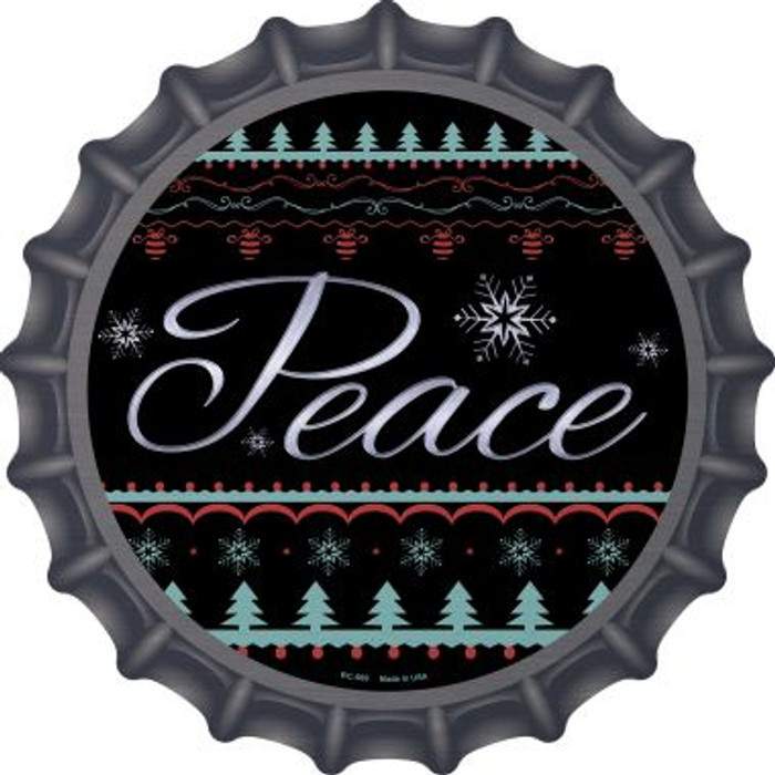 Peace Novelty Metal Bottle Cap BC-569