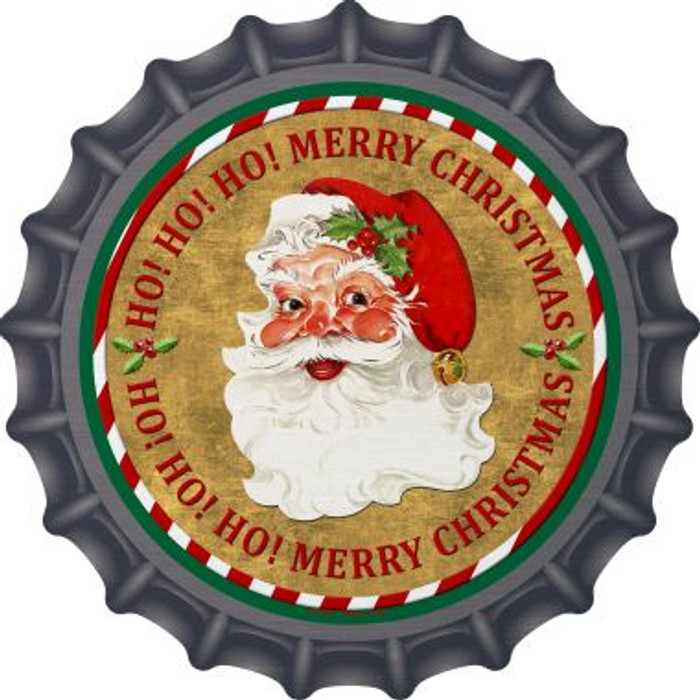 Ho Ho Ho Santa Novelty Metal Bottle Cap BC-570