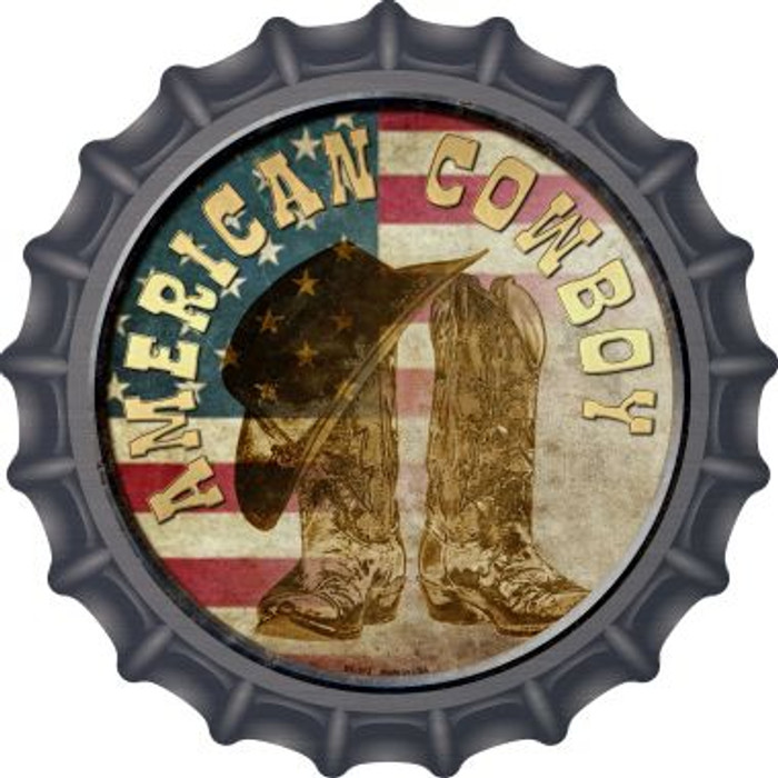 American Cowboy Novelty Metal Bottle Cap BC-572