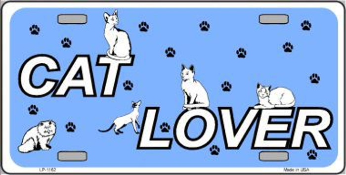 Cat Lover Novelty Metal License Plate