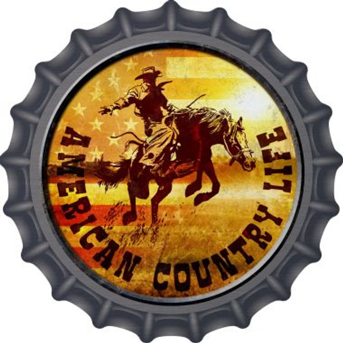 American Country Life Novelty Metal Bottle Cap BC-583