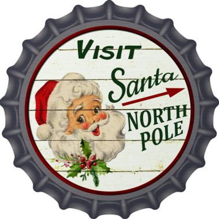 Visit Santa Novelty Metal Bottle Cap BC-587