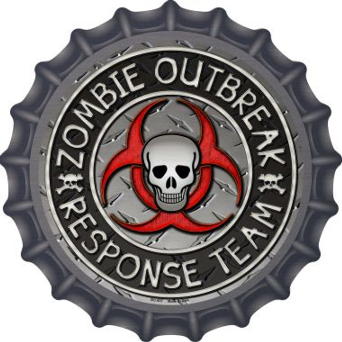 Zombie Outbreak Novelty Metal Bottle Cap BC-637