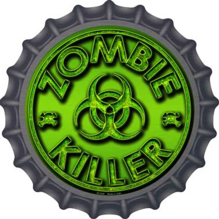 Zombie Killer Novelty Metal Bottle Cap BC-649