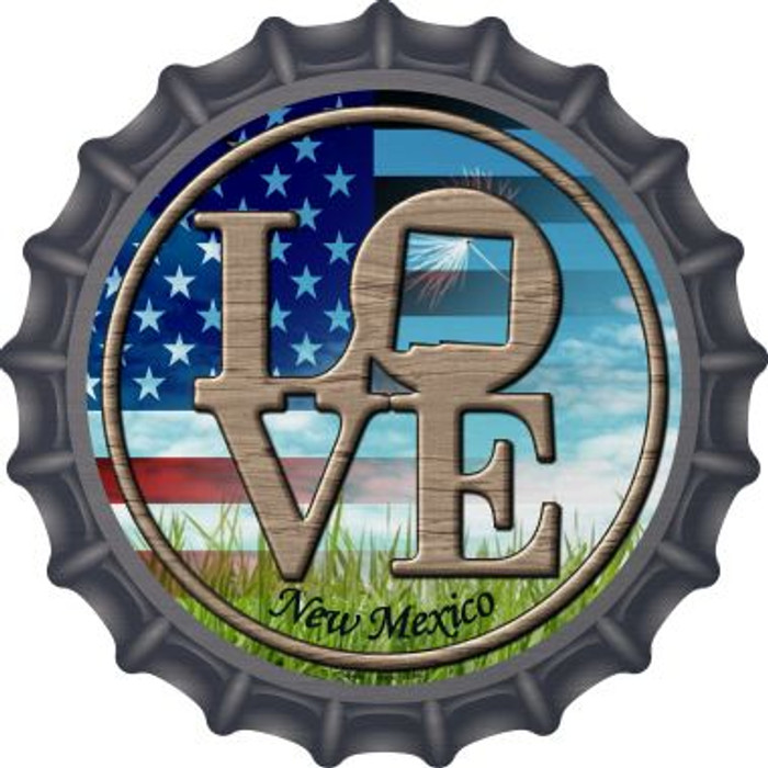 Love New Mexico Novelty Metal Bottle Cap BC-696