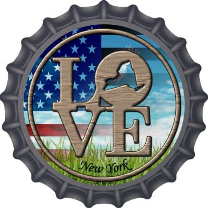 Love New York Novelty Metal Bottle Cap BC-697