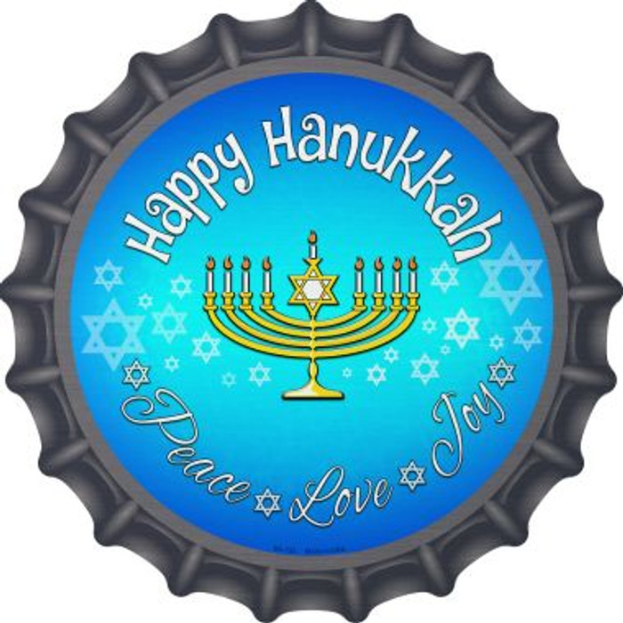 Happy Hanukkah Novelty Metal Bottle Cap BC-723
