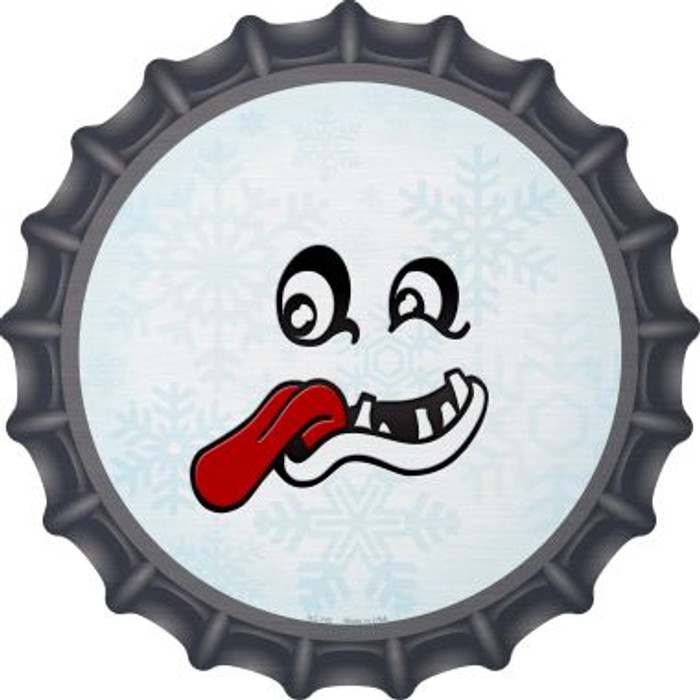 Freak Face Snowflake Novelty Metal Bottle Cap BC-742