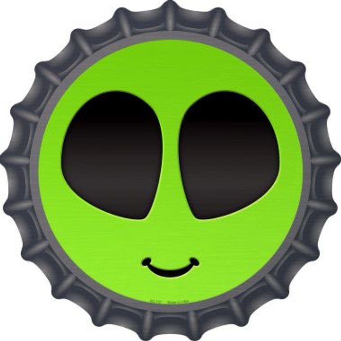 Alien Smile Face Novelty Metal Bottle Cap BC-727