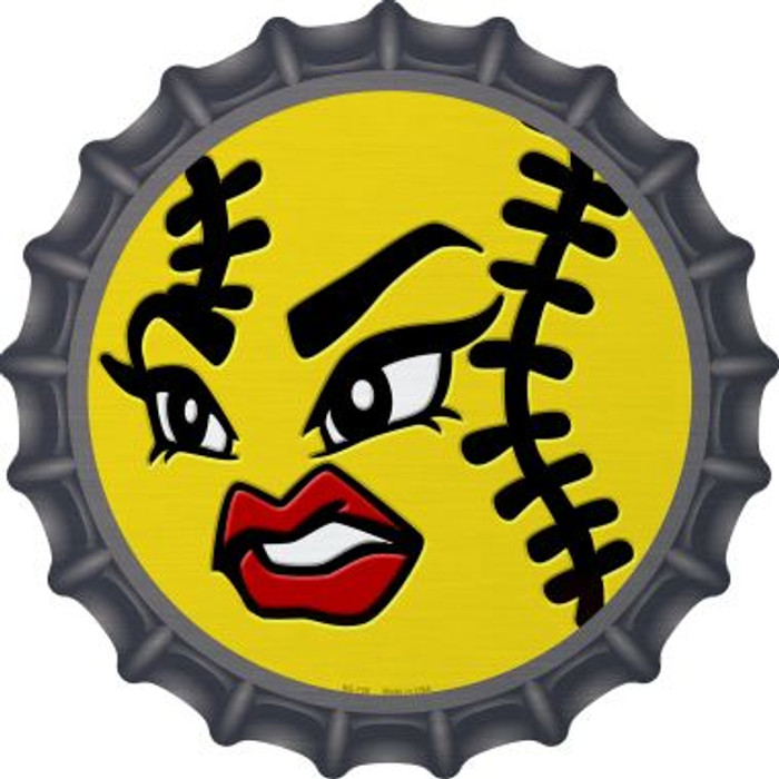 Angry Softball Novelty Metal Bottle Cap BC-736