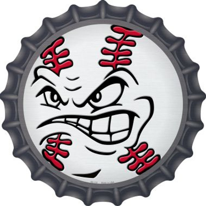Angry Baseball Novelty Metal Bottle Cap BC-737